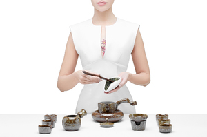 Mottled Brown  Glazed Tea Set For Traditional Chinese Tea Ceremony
