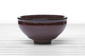 Roundish Tea Bowl With Maroon Speckled Glaze